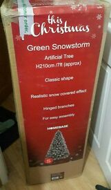 Brand New 7ft Snowstorm artificial Christmas Tree
