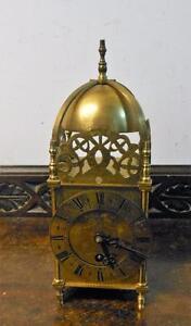 brass cased 8 day lantern clock
