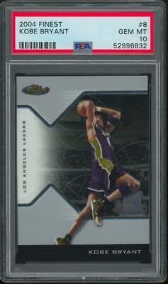 2004 Topps Finest #8 Kobe Bryant Gem Mint PSA 10
