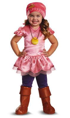 inder Disney Jake und die Nimmerland Piraten Dlx Izzy Kostüm (Piraten Mädchen Kleinkind Kostüm)