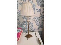 Laura Ashley brass lamp and shade