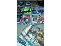 DVD movie cassettes original printed inserts, 550 individual titles.