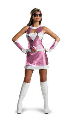 Damen Mighty Morphin Dlx Pink Power Ranger Kostüm