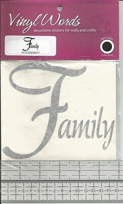 Vinyl Decal FAMILY Glass Block Craft Home Decor  B47 - Glass Block Decoration