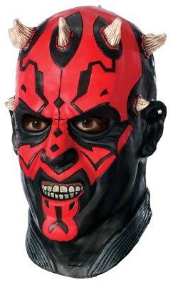 Herren Erwachsene Star Wars Deluxe Darth Maul Ganzer Kopf Maske - Darth Maul Kostüm Maske