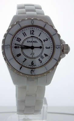 Chanel J12 White Ceramic 33mm H0968 Ladies Watch