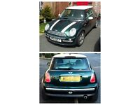 Mini Cooper 1.6 Injection.(2003) with **Full Colour Coded Leather Interior** MOT Sept '16