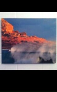 Ocean Wave and Sunset Cliffs on Canvas Wembley Cambridge Area Preview