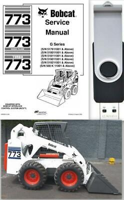 Bobcat 773 G-series Highflow Turbo Workshop Service Manual 6900834 Usb