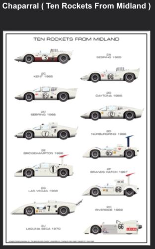 Chaparral Ten Rockets From Midland History Car Poster! WOW!!!