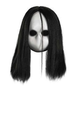 own Besessen Blanko Schwarz Augen Puppe Maske Kostüm (Böse Clown Augen)