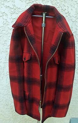 Pine Cone Sportswear Duck Bird Plaid Game Hunting Jacket sz 40 J