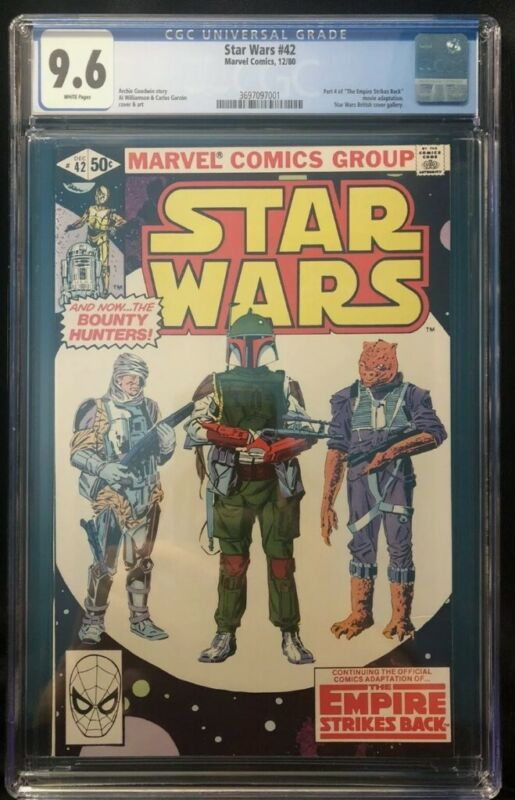 Marvel Star Wars #42 12/80 CGC 9.6 1st app Boba Fett and Yoda.