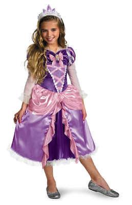 Mädchen Kind Disney Tangled Deluxe Rapunzel Lang Blond Haar - Disney Tangled Kostüm
