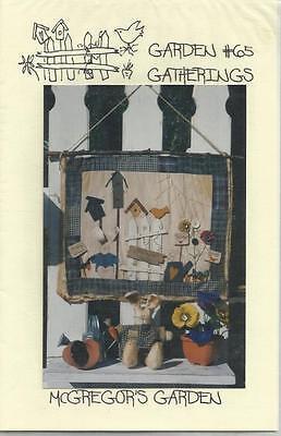 Mcgregors Garden - McGregors Garden #65 Wall Hanging & Bunny From Garden Gatherings Sewing Pattern