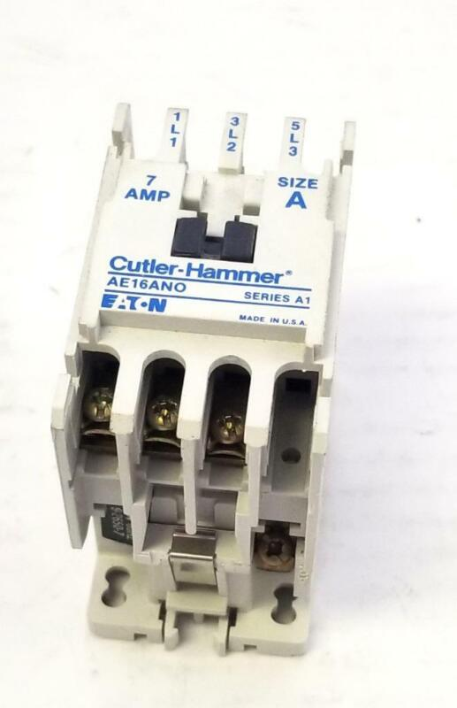 Cutler Hammer AE16ANO Motor Starter 7 A Size A (2 Available)