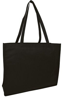 Reusable Shopping Bag Black Grocery Eco Friendly Bag Shopping Gift Large Wide