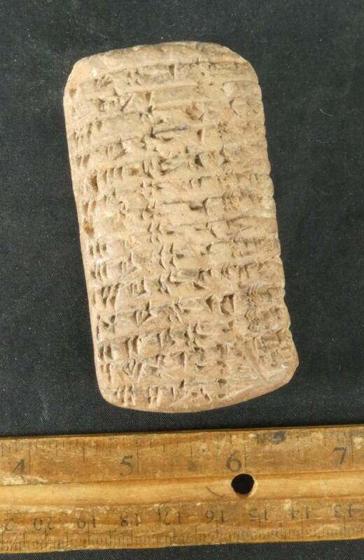 RARE OLD Sumerian Cuneiform Tablet Babylonian Ur Inscriptions Writing Assyrians
