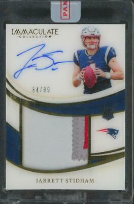 2019 Panini Immaculate Collection Jarrett Stidham 84/99 Auto Patch RC Rookie
