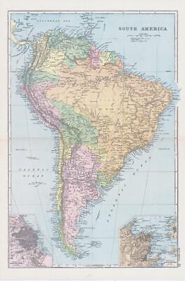 1898 Antique Map SOUTH AMERICA ENVIRONS OF BUENOS AYRES RIO DE JANEIRO (NGA30)