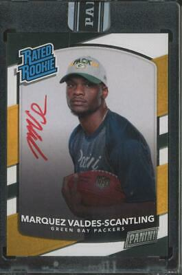 2018 Panini Next Day Personal Edition Marquez Valdes-Scantling 4/5 Auto RC