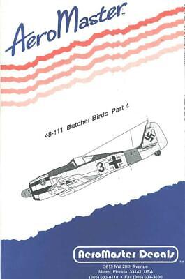 1:48 Butcher Birds Part 4 Fw-190 AeroMaster Model Decals Sheet NOS 48-111
