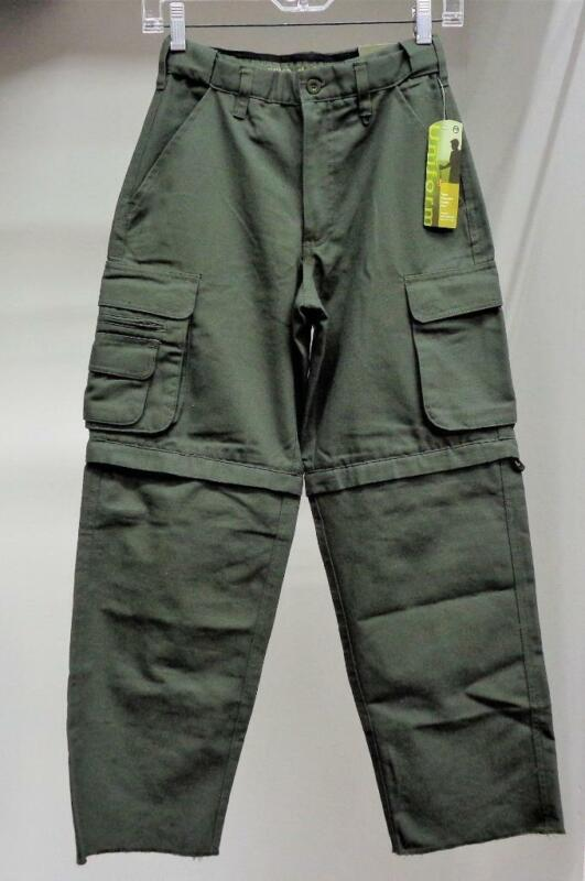 Youth Boy Scouts of America Green Convertible Canvas Pants Size Youth 10 NWT