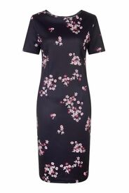 Havren Sinead Dress Size 10 Black/Floral (Brand new with tags)
