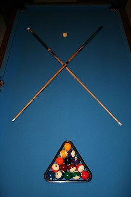 8u0026#39; FOOT SLATE BILLIARD POOL TABLE 70s Oversize Rare Socal Vintage  Professional