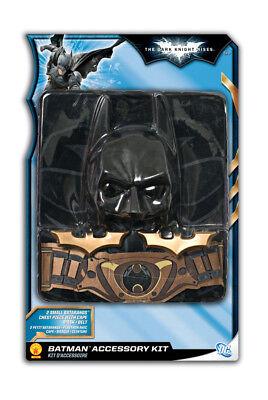Jungen Kind Batman The Dark Knight Rises Kostüm mit / Maske Umhang Gürtel & (Batman Gürtel Kostüm)