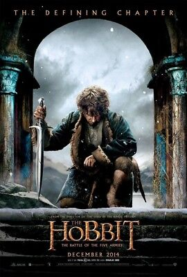 THE HOBBIT 3 BATTLE OF THE FIVE ARMIES MOVIE POSTER 2 Sided ORIGINAL ADV