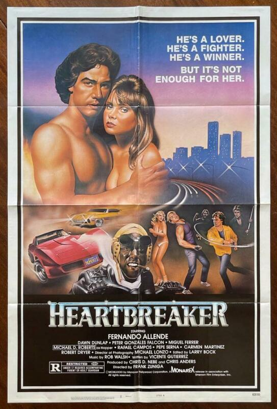 HEARTBREAKER 1983 Fernando Allende Car Club East L.A. ORIGINAL MOVIE POSTER