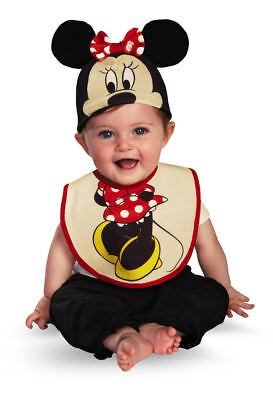 Kleinkind Kind Disney Baby Minnie Maus Lätzchen & Hut Kostüm - Minnie Kostüm Kleinkind