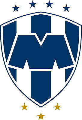 Club Monterrey Vinyl DieCut Sticker Decal Logo Soccer Liga MX Mexico 4 Stickers