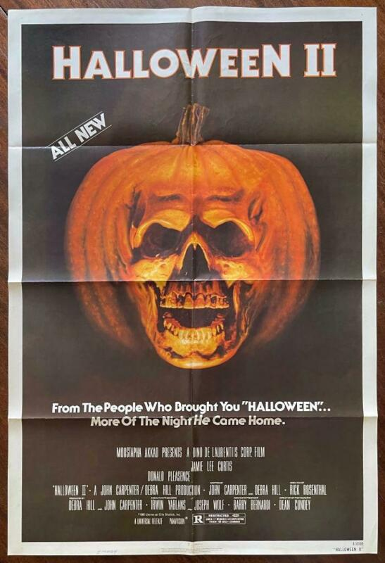 HALLOWEEN II 1981 Michael Myers Horror Slasher Gore Cult ORIGINAL MOVIE POSTER