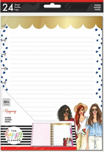 The Happy Planner CLASSIC Note Paper - RONGRONG - 24 shts