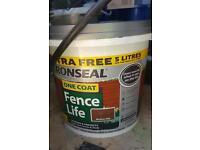 Ronseal Fence Paint 5L medium oak