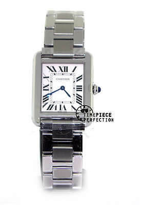 Cartier Tank Solo Ladies Stainless Steel Watch w5200013