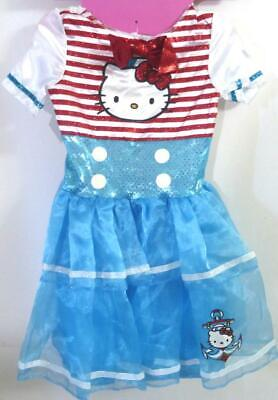 Hello Kitty Sailor Costume Small 4-6X Dress Headband w/ Ears Glovettes Mini Hat - Hello Kitty Headband Ears