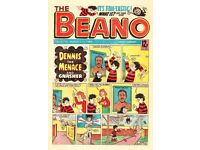 Vintage comics, Beano Dandy etc very collectable.