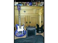 Electric guitars and amp