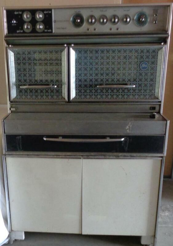 MID CENTURY Frigidaire Custom Imperial Flair Stove with Double Oven & Cabinet
