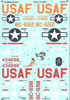 1:48 A-26 Oscar''s Invaders AeroMaster Decals Model Decal Sheet 48-101