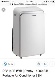 New Danby 14000 BTU air conditioners