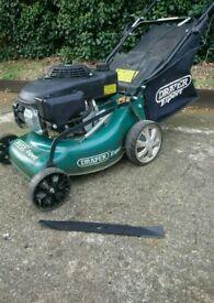 Petrol lawn mower c/w new blade