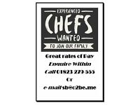 Experienced Chefs Wanted