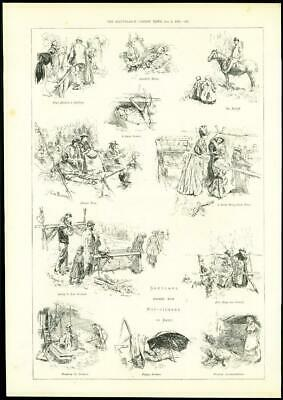 1888 - KENT Hop-Pickers Beer Sketches   (220)