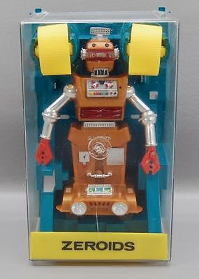 VINTAGE IDEAL ZEROIDS ZOBOR ROBOT IN ITS PLASTIC CASE - SUPER CLEAN