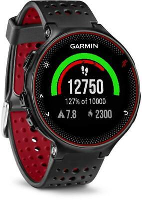 Garmin Forerunner 235 Running Watch Heart Rate Wrist  Glonass GPS Black Red Band
