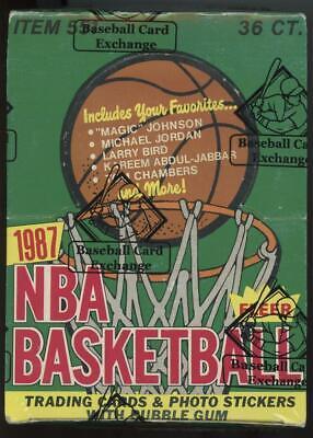 1987-88 Fleer Basketball BBCE Sealed 36 Pack Box Michael Jordan